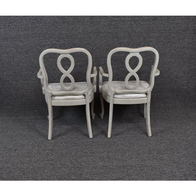 French Country Louis XV Style Dining Chairs- Set of 4 For Sale - Image 6 of 13