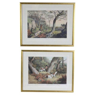 English Pheasant Hunting Prints - Set of 2 For Sale