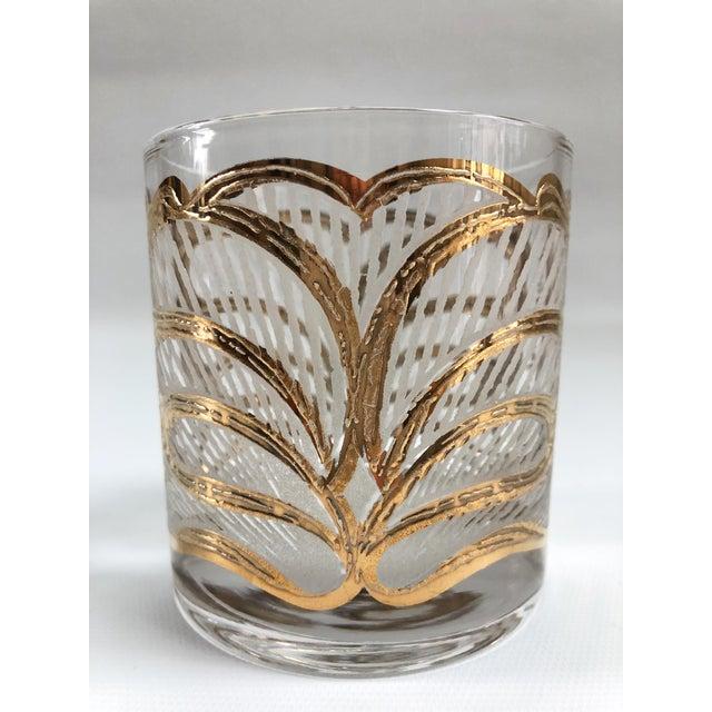 Mid-Century Hollywood Regency Gilt Rocks Glassware - Set of 5 For Sale In Boston - Image 6 of 8