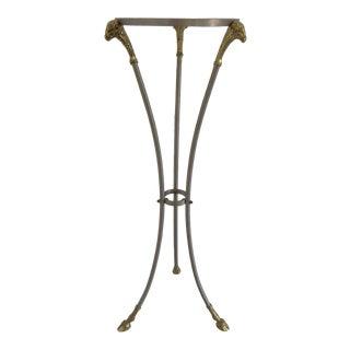 1970s Hollywood Regency Maison Jansen Pedestal Side Table For Sale