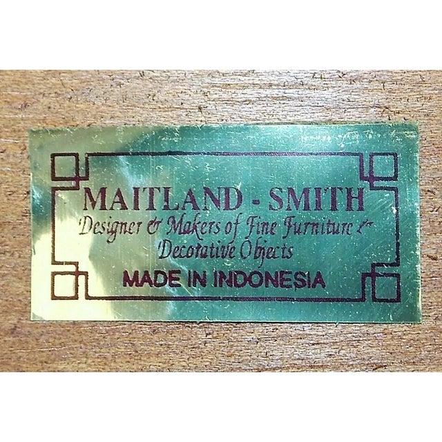 Maitland - Smith Maitland-Smith Inlay Mahogany Tea Table For Sale - Image 4 of 7
