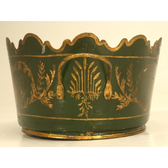 Early 19th Century French Tole Jardinière C. 1800s For Sale - Image 5 of 9