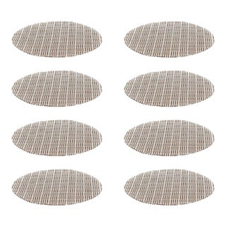 Tan 3 Over 4 Lines Placemat - Set of 8