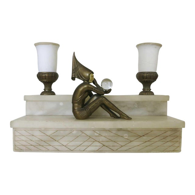 Large Stepped Art Deco Harlequin Lamp by JB Hirsch - Image 1 of 8