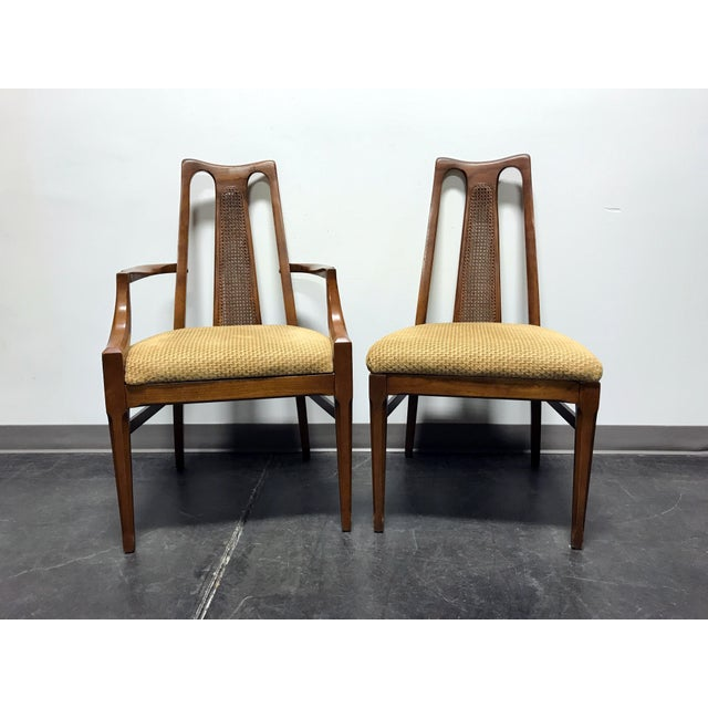 White Furniture Co Mid Century Modern Walnut Cane Dining Chairs Set Of 6