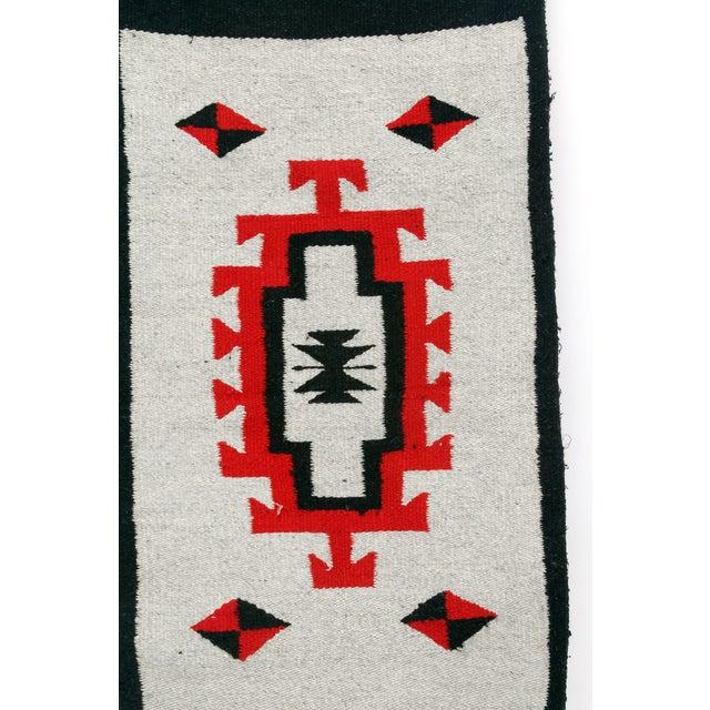 Southwestern Navajo Style Wool Rug - 1′8″ × 3′7″ - Image 2 of 2