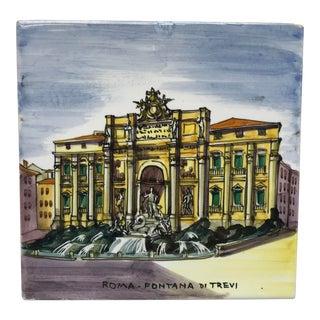 Mid 20th Century Fontana DI Trevi Ceramic Tile For Sale