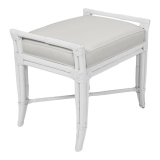 Small Malacca Bench - White For Sale