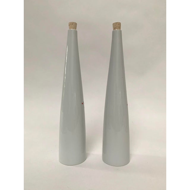 1960s 1960s Mid-century Modern Porcelain Wine Decanters by Kenji Fujita - a Pair For Sale - Image 5 of 7