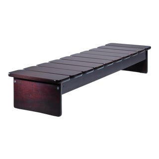 Geraldo de Barros wooden bench from Brazil, 1960s