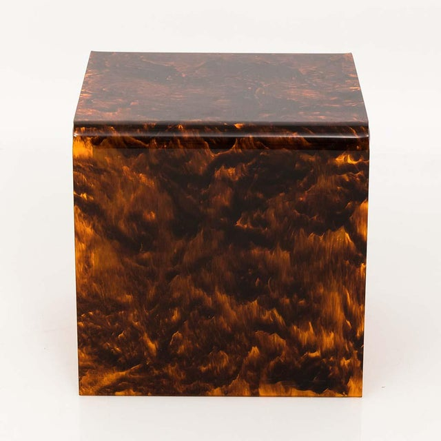Acrylic Faux Tortoise Lucite Tables For Sale - Image 7 of 13