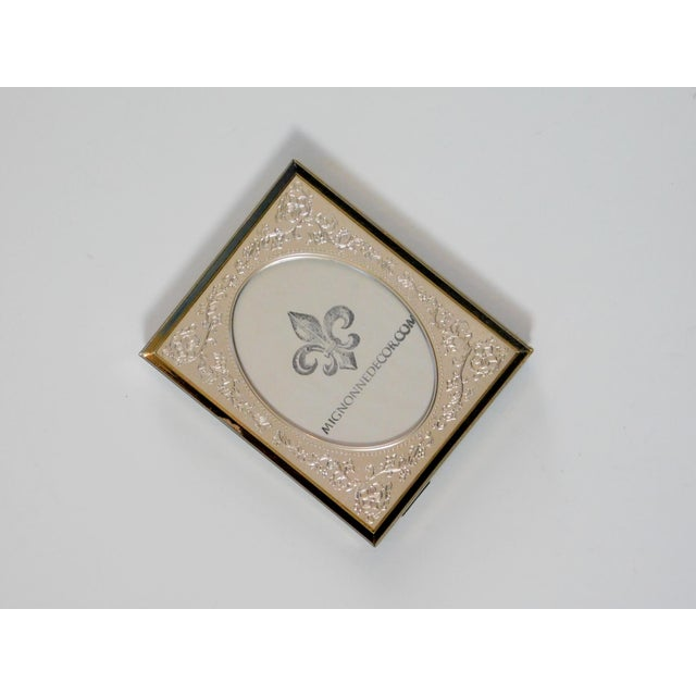 Brass Floral Picture Frame For Sale - Image 4 of 7