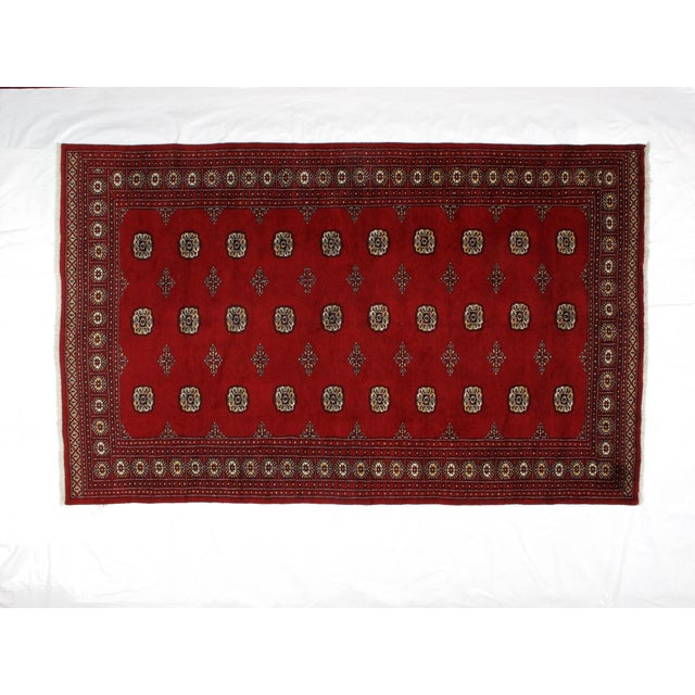 This master piece is a very fine Genuine hand made Royal Bokara carpet in mint condition.