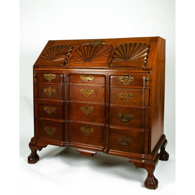 Early 19th Century Mahogany Wood Drop-Front Writing Desk For Sale - Image 4 of 9