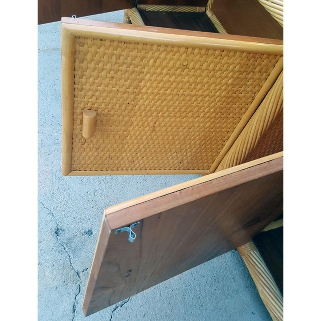 Ficks Reed Chippendale Style Rattan Étagères - a Pair For Sale - Image 11 of 13