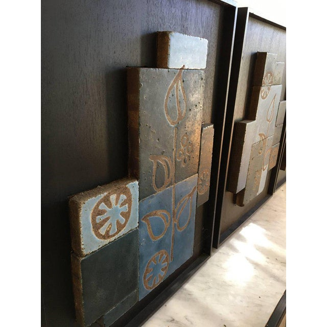 Set of Three Glazed Tile Assemblages from the South of France For Sale - Image 4 of 6