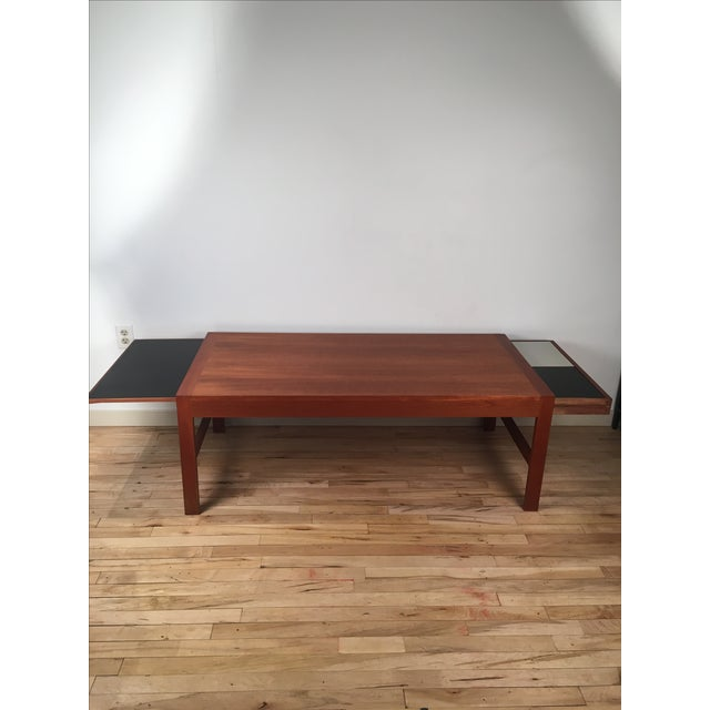 Coffee Table Tray Contemporary: Pullout Tray Danish Modern Coffee Table