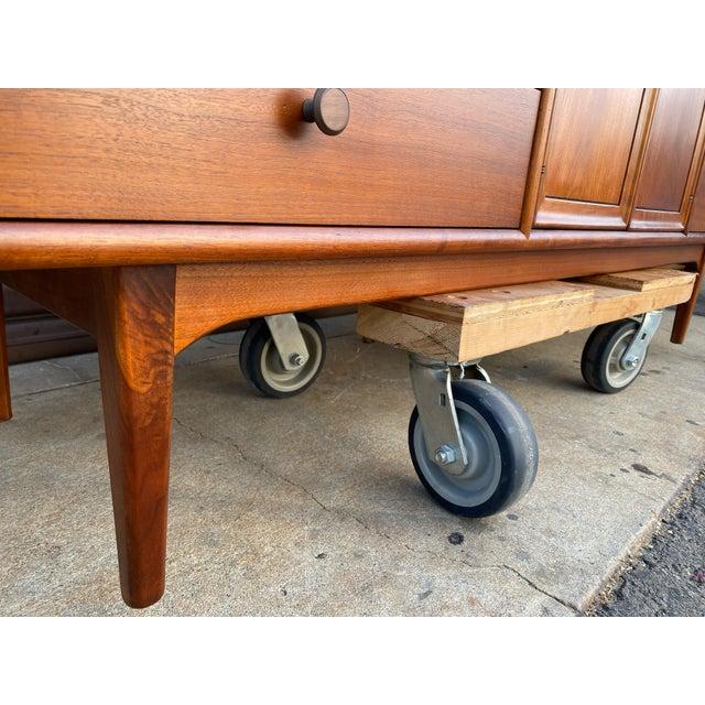 1960s Kipp Stewart for Drexel Mid Century Modern Walnut Credenza For Sale - Image 10 of 12