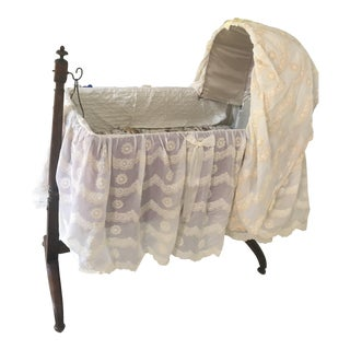 Vintage Lacey Victorian Crib For Sale