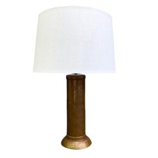 American Arts & Crafts Copper Table Lamp For Sale