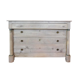 19th Century French Bleached Empire Chest For Sale