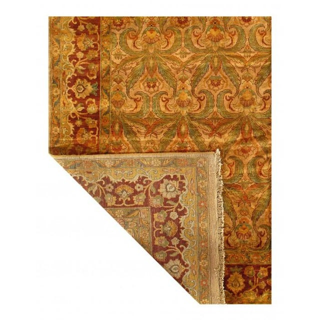 2010s Pasargad Gold Color Hand Knotted Agra Rug- 11′11″ × 14′8″ For Sale - Image 5 of 10