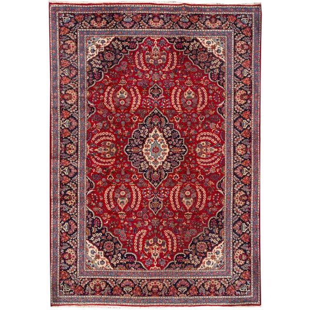 "Apadana - Vintage Persian Tabriz Rug, 9'11"" x 13'7"" For Sale - Image 5 of 5"