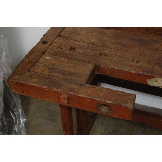 Rustic Antique Hungarian Craftsman's Workbench For Sale - Image 3 of 8