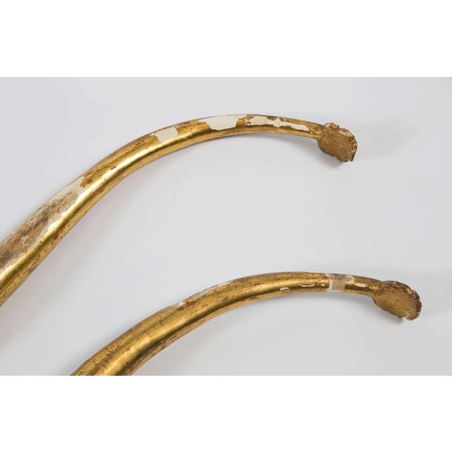 Hollywood Regency 18th Century Gold Leaf Dolphin Shaped Ornaments - a Pair For Sale - Image 3 of 11