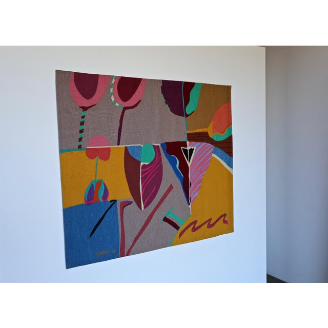 Contemporary Abstract Tapestry by Steve Zoller For Sale - Image 4 of 10