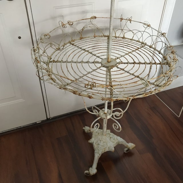 Antique French Tiered Wire Stand - Image 8 of 9