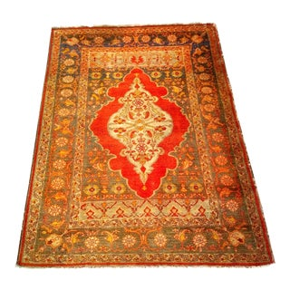 Early 1900s Turkish Oushak Carpet - 4′4″ × 5′10″ For Sale