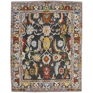Contemporary Oushak Style Rug - 10′9″ × 13′8″ A For Sale