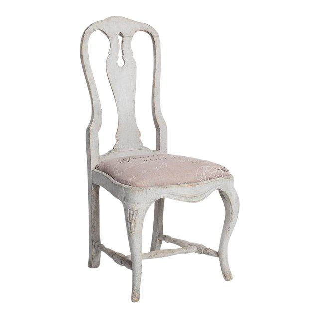 Elegant set of Gustavian style dining chairs, made in Sweden in the 19th century. Classic Queen Anne style silhouette,...
