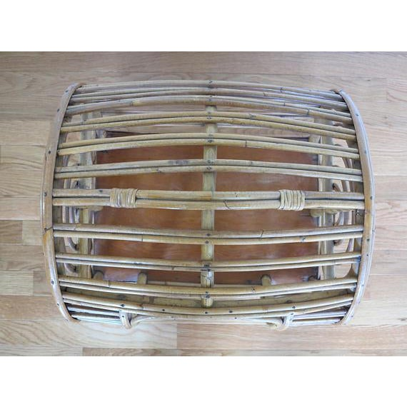 C.1930 Art Deco Abercrombie & Fitch Rattan Bamboo Pet Bed - Image 7 of 8