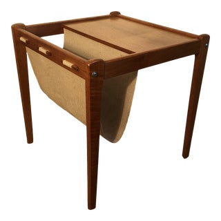 Mid Century Danish Modern Magazine Rack Table by Brdr Furbo of Denmark For Sale