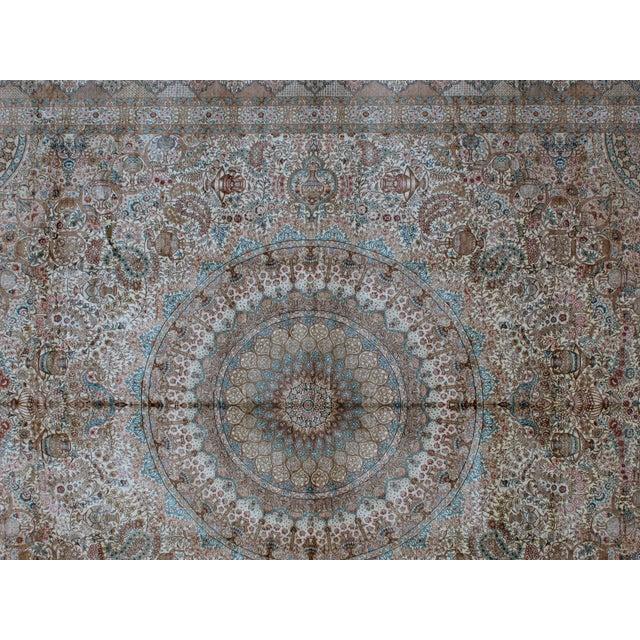 Leon Banilivi Pure Silk Tabriz Carpet - 8' x 10' For Sale - Image 5 of 10