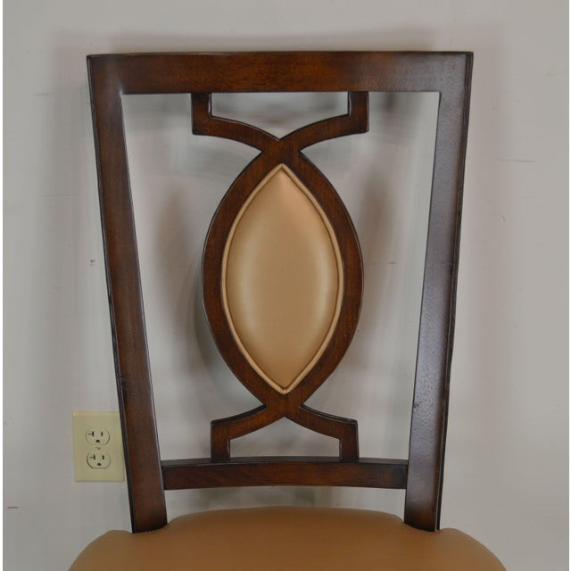 Brown Regency Classic Modern Style Set 6 Dining Chairs For Sale - Image 8 of 12