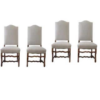 Antique Renaissance Style Dining Chairs - Set of 4
