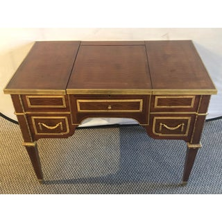 Louis XVI Style Gilt Bronze Parquetry & Marquetry Dressing Table, Desk or Vanity Preview
