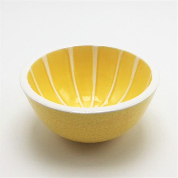 Mid-Century Modern Set of 4 Ceramic Breakfast Bowls, C. 2000 For Sale - Image 3 of 4