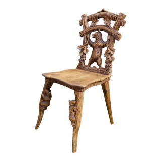 Black Forest Side Chair For Sale