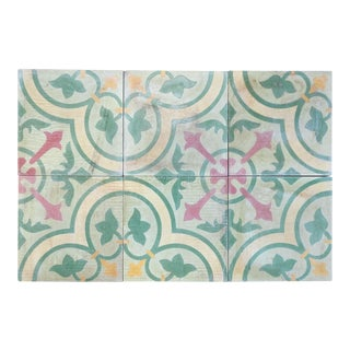 19th Century Incaustic Tiles - Set of 6 For Sale