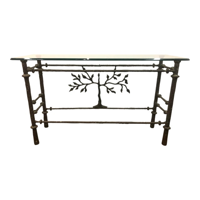 Giacometti Style Studio Made Console Table For Sale