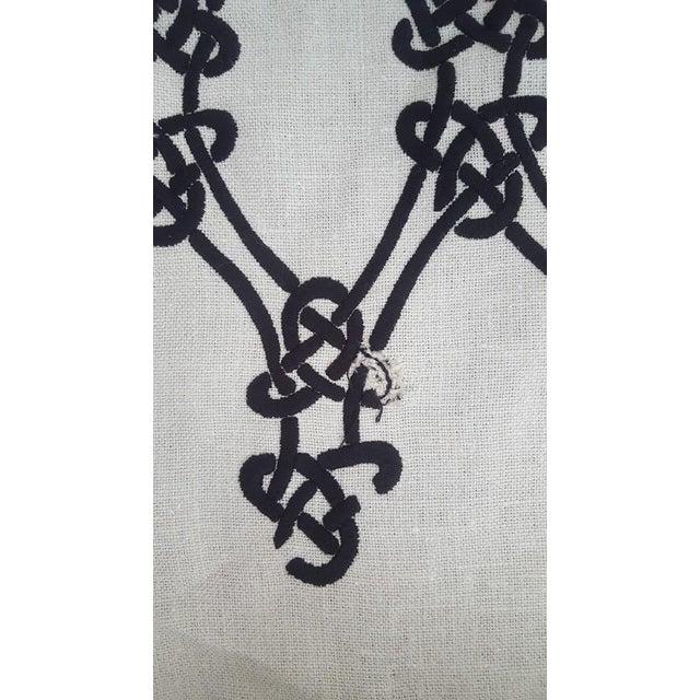 Cotton Schumacher Gordian Weave Ebony on Greige Fabric For Sale - Image 7 of 7