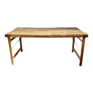 Vintage Old Farm Work Table For Sale
