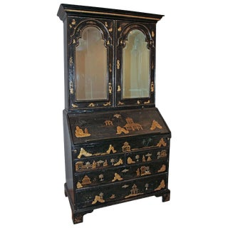 Early 18th Century English Queen Anne Chinoiserie Secretary For Sale