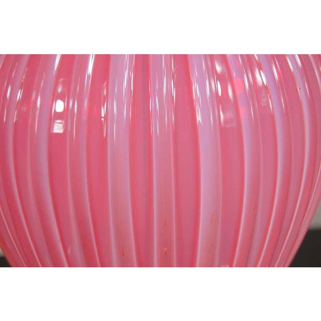 Glass Marbro Murano Opaline Glass Table Lamps Pink For Sale - Image 7 of 10