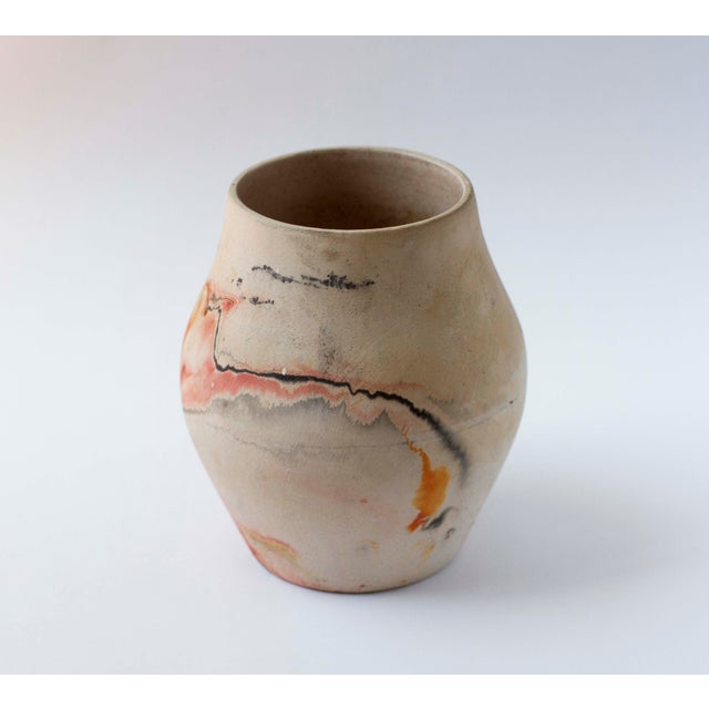 Vintage Red & Orange Nemadji Pottery Vase - Image 4 of 8