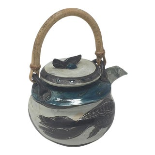 1980s Deanna Eckels Small Tea Pot Bayfield Wisconsin Studio Pottery For Sale